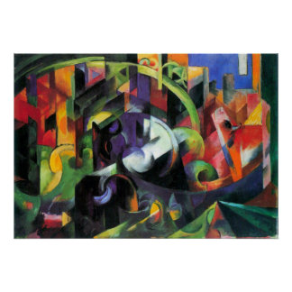 Cattle or Rinder by Franz Marc, Vintage Abstract Poster