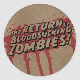 "Cattle pig - button ""Zombies "" Classic Round Sticker"