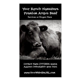 Cattle Ranch or Farm Beef Business Double-Sided Standard Business Cards (Pack Of 100)