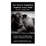 Cattle Ranch or Farm Beef Business Business Card Templates