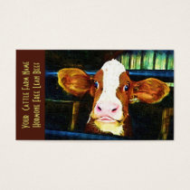 Cattle Ranch Veal Funny Cow Business Card