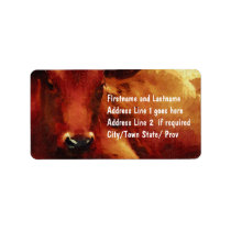 Cattle Rancher, Butcher or Beef Feedlot Label