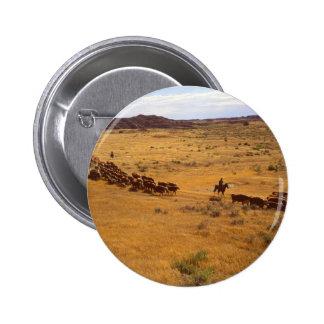 Cattle roundup 2 inch round button