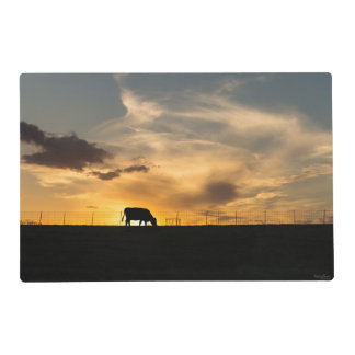 Cattle Sunset Silhouette Placemat