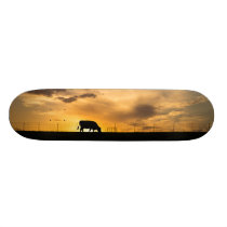 Cattle Sunset Silhouette Skateboard Deck