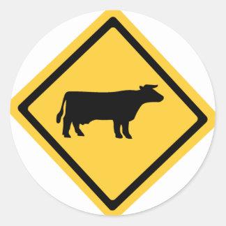Cattle Symbol Classic Round Sticker