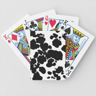 Cattle-Up! Dairy Cow Print -Playing Cards. Bicycle Playing Cards