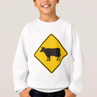 Cattle Zone Highway Sign Sweatshirt