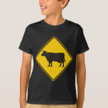 Cattle Zone Highway Sign T-Shirt