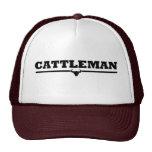 Cattleman Steer Print Mesh Hats
