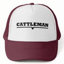 Cattleman Steer Print Trucker Hat