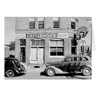 Cattleman's Bar Stockyards Omaha Nebraska Card