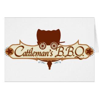 Cattleman's BBQ Logo Card