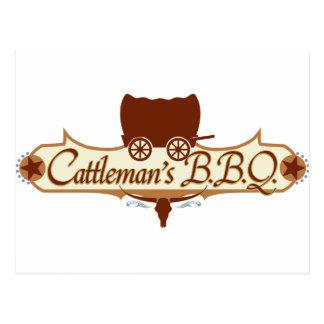 Cattleman's BBQ Logo Postcard
