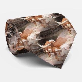 Cattleman's Longhorns Tie
