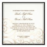 Cattleya Orchid Black Cream - Wedding Invitation