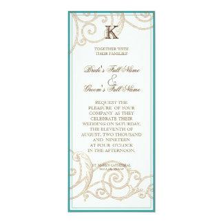 Cattleya Orchid blue - Wedding Invitation