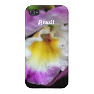 Cattleya Orchid Cover For iPhone 4