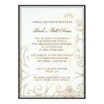 "Cattleya Orchid Cream Black - Bridal Shower Invite 5"" X 7"" Invitation Card"