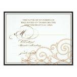 "Cattleya Orchid Cream Black - RSVP Response Card 4.25"" X 5.5"" Invitation Card"