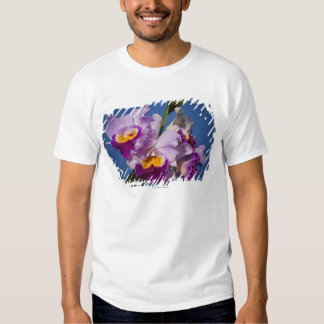Cattleya Orchid Hybrid With Pacific Ocean Tee Shirt