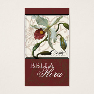 Cattleya Orchid taupe brown - Florist Business Business Card