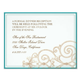 Cattleya Orchid taupe brown - Reception Invite