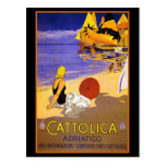 CATTOLICA ITALIAN RIVIERA TRAVEL POSTER POST CARD
