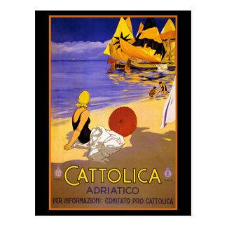 CATTOLICA ITALIAN RIVIERA TRAVEL POSTER POSTCARD