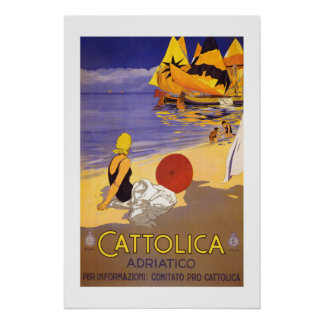 Cattolica Italy Vintage Travel Poster