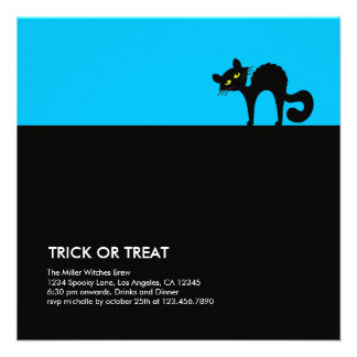Catty Halloween Party Invitation