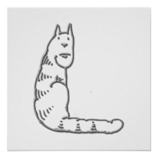 Catty Letter L Posters