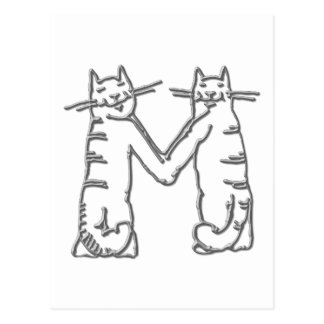 Catty Letter M Postcard