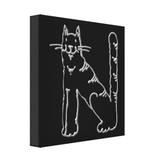 Catty Letter N Stretched Canvas Prints