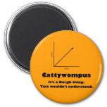 Cattywompus Imán De Frigorífico