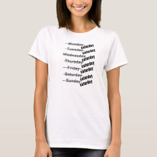 Caturday Everyday Funny T-Shirt