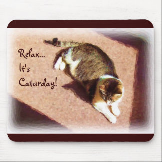 Caturday mousepad