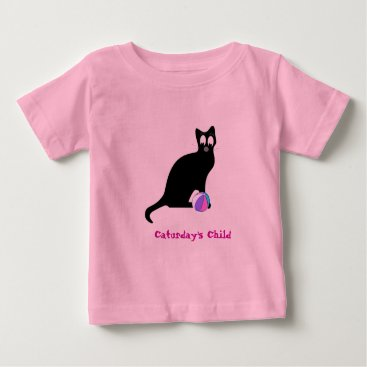 Beach Themed Caturday's Child Baby T-Shirt