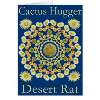 Catus Hugger Card with Barrel Cactus Mandala 2 card