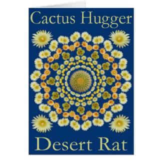 Catus Hugger Card with Barrel Cactus Mandala 2