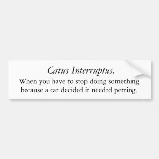 Catus interruptus pegatina para auto