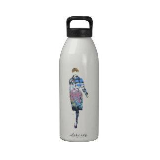 Catwalk Graffiti Model - Design by Dominic Reusable Water Bottles