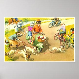 CATWALKS: A Wild Scooter Ride   Poster Art