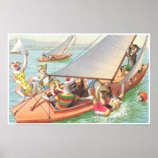 CATWALKS: Silly Sailing   Poster Art - Semigloss