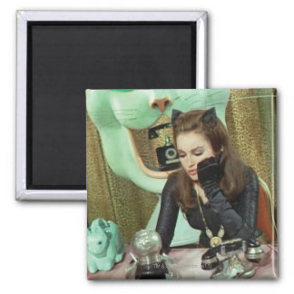 Catwoman 2 Inch Square Magnet