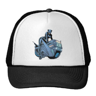 Catwoman and bike trucker hat