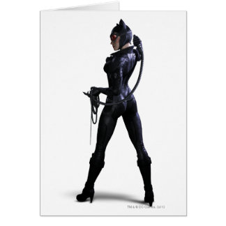 Catwoman Color Greeting Card