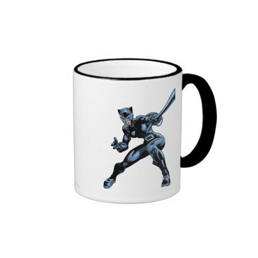 Catwoman con el azote tazas de café