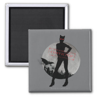 Catwoman Convicted Grey 2 Inch Square Magnet