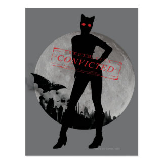 Catwoman Convicted Grey Postcard